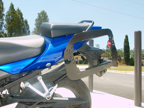 SW Motech + Hepcko Becker Cases on an '05 Suzuki SV650S