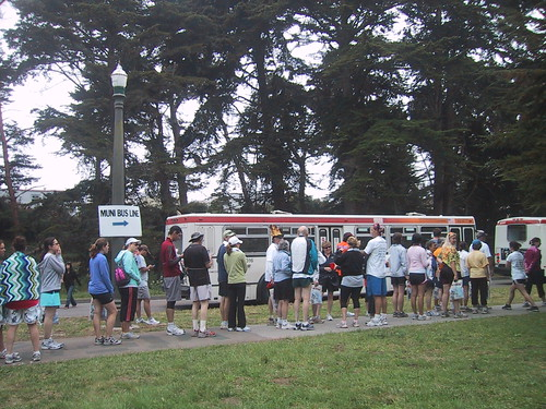 Lining Up For the Bus