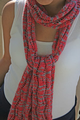 Lace Ribbon Scarf (fourpeas) Tags: scarf knitting knitty alpacasox laceribbonscarf