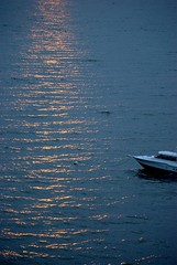 Evening fell (SusanCK) Tags: sunset water evening boat camanoisland lessismore susancksphoto