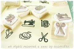 Maemod 02 (happily.happens) Tags: stamps sewing crochet scissors pincushion needles sewingmachine amigurumi cushion rubberstamps setamigurumicrochetcutezakkawitchrubberstampshandcarvedhandcarvedstampscustomtag