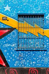 street art in Milan (Ezio Beschi) Tags: street blue red white house black milan art window colors yellow casa blu milano finestra giallo rosso colori bianco nero