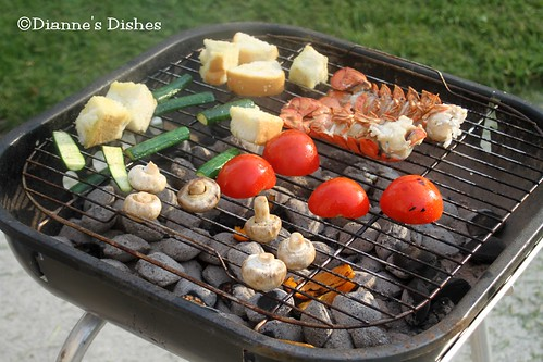 Grilled Vegetable and Lobster Salad: Grilling