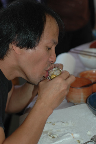 Raul Arellano eating Balut