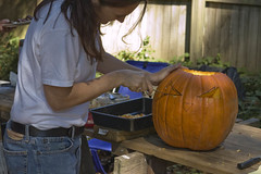 Betsy Carving The Pumpkin