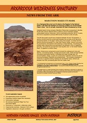 the latest Arkaroola Sanctuary newsletter highlights the damage done by mineral exploration - link to the 'From the Ark' newsletter