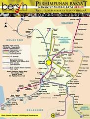 Peta Himpunan Bersih 10 Nov Dataran Merdeka