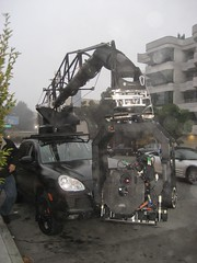 Camera Truck filming commercial