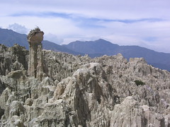 Valle de la Luna (Phillie Casablanca) Tags: travelling southamerica pillar bolivia adventure backpacking valledelaluna bleak badlands traveling lapaz valleyofthemoon roundtheworldtrip