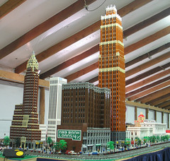 Michigan Lego Train Club Display at Saline Train Show Nov. 25, 2007 (DecoJim) Tags: city architecture skyscraper buildings lego michigan structures minifigs saline 2007 michlug electrictrains davidstottbuilding detroitarchitecture traindisplay legobricks griswoldbuilding legocity americaninternationalbuilding trainlayout michltc michiganlegotrainclub michiganlegousersgroup trainandtown railsonwheels november252007 legomodelbuildings