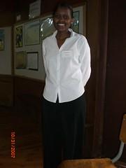 Tourguide Becky Wanjau