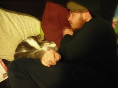 Blake and Harold snuggle nap