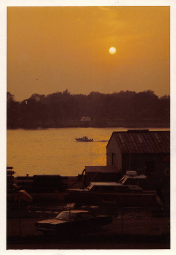 Amherstburg Coast Guard at Sunset, early 1970s