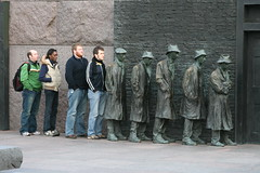 Soup line, part of Franklin D. Roosevelt Memorial (Image used under CC license from Flickr user gamillos)