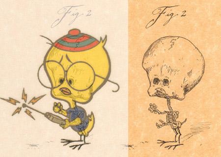 anatomia de dibujos animados
