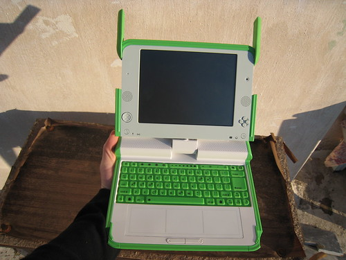 OLPC showing the keyboard