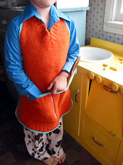 Sweater Apron (orange)