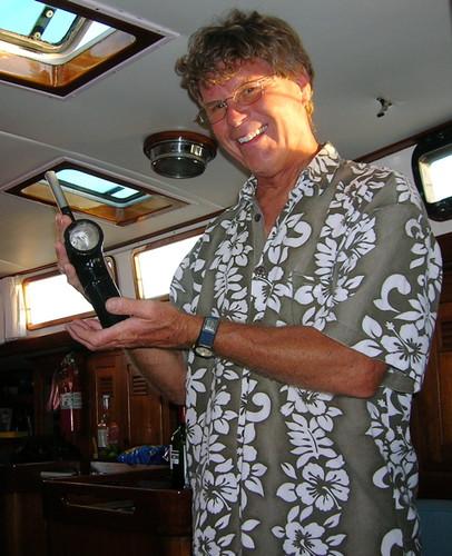Captain Dan & new boat part