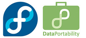 logo de Fedora y Dataportability