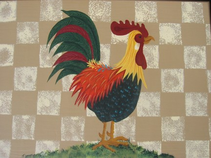 rooster stool
