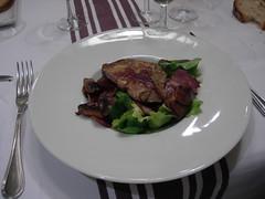 Autumn salad with pan-fried foie gras, Le Bon Vivre in Toulouse, FR