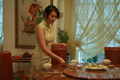 Mom (Kimmy) readying dinner