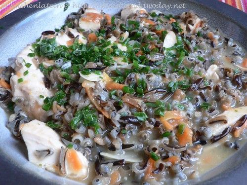 Chicken Wild Rice Soup with Chives