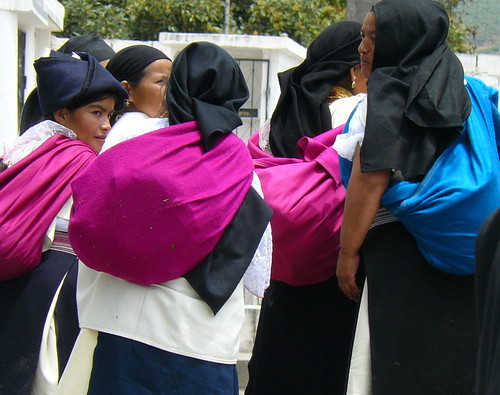 Indigenous ladies leave cemetery