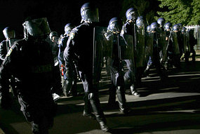 Police at macquarie fields riots