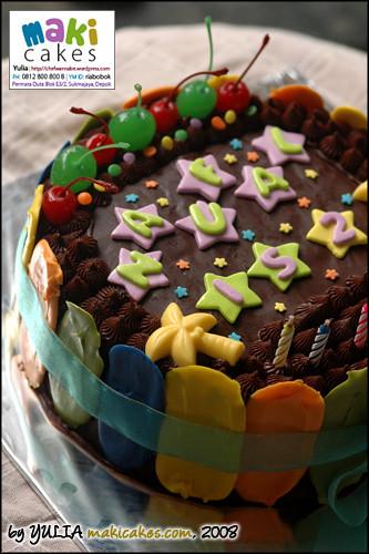 Chocolate Birthday Cake, Kue Ulang Tahun Coklat