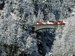 Winter Tour Valais (kruhme) Tags: bridge schnee winter white snow tree train alpes tren puente arbol schweiz tour suiza nieve valle zug invierno alp baum valais blueribbonwinner bej mywinners abigfave platinumphoto anawesomeshot flickrdiamond goldenheartaward