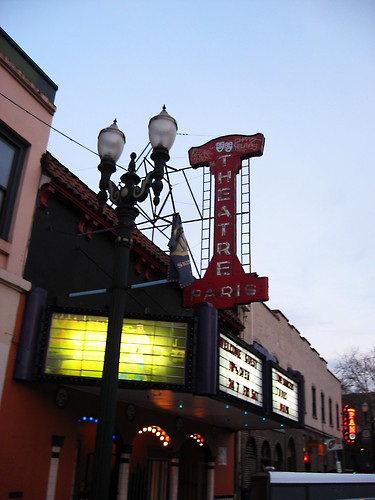 We saw the Paris Theater which is now a dirty movie theater.