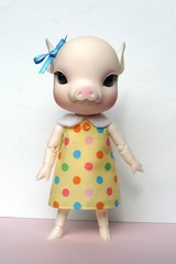 Penelope in yellow polka dot dress (Pretty in Pink Crafts) Tags: pink cute cherry penelope pretty blossom sale alice crafts dresses