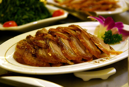 Peking Duck pieces at Quanjude 全聚德
