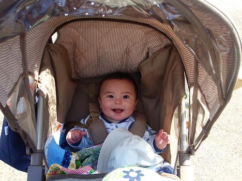 big stroller smile