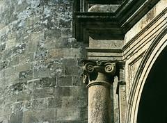 Gerace: first bite (Giorgio Verdiani) Tags: film church stone mediumformat 645 pentax chiesa reggiocalabria capitol 6x45 pietra calabria 400asa capitello chatedral pentax645 pelicola gerace medioformato tesidilaurea degreethesis