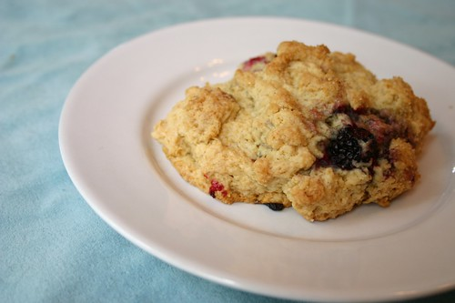 Marionberry+Ginger Drop Scones