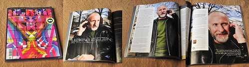 XLR8R spread with my photos of Bob Mould.