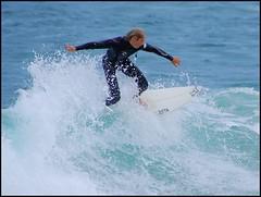 Riding the waves (Brian Nordlund) Tags: boy man beach water pentax surfer sydney wave australia surfing nsw newsouthwales k10d bundibeach