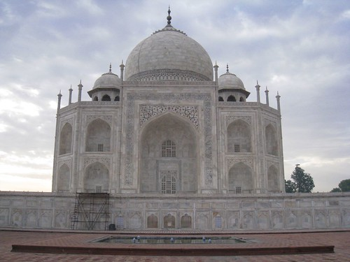 Side view of the Taj Mahal