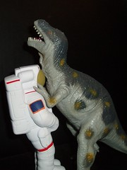 Dinosaur and Astronaut