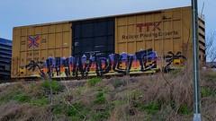 HINDUE (BLACK VOMIT) Tags: graffiti hindue hindu hindueonner gtb a2m boxcar box car freight train