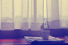 Ⓖ Reading.. (- M7D . S h R a T y) Tags: morning cup window newspaper goodmorning moning wordsbyme ®allrightsreserved™