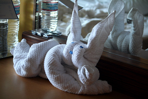 Towel Animal - Reclining Bunny