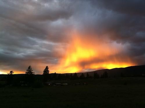 Kelowna sunset rainstorm...thing