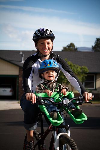 Carrie & Elliott on the Bike