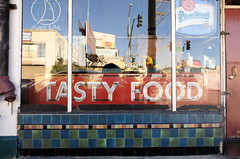 Tasty Food! - San Francisco, CA (TontonJon) Tags: sanfrancisco street urban window reflections restaurant tastyfood