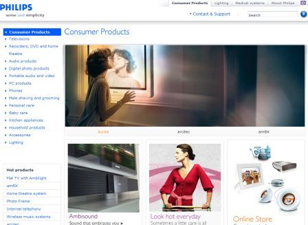 Philips consumer homepage