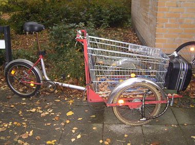 Umgestaltetes Fahrrad