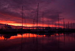 Facing west (Light Knight) Tags: sunset red newzealand sky marina boats auckland yachts pentaxk10d aplusphoto
